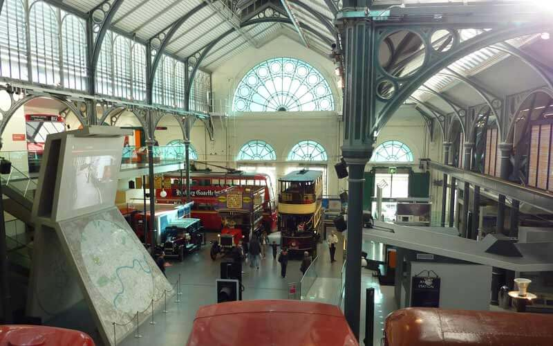 Vue d'ensemble de l'intérieur du London Transport Musuem